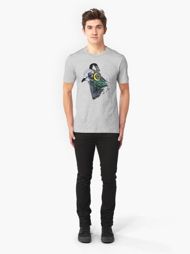 Alternate view of Techno Pigeon v2 Slim Fit T-Shirt