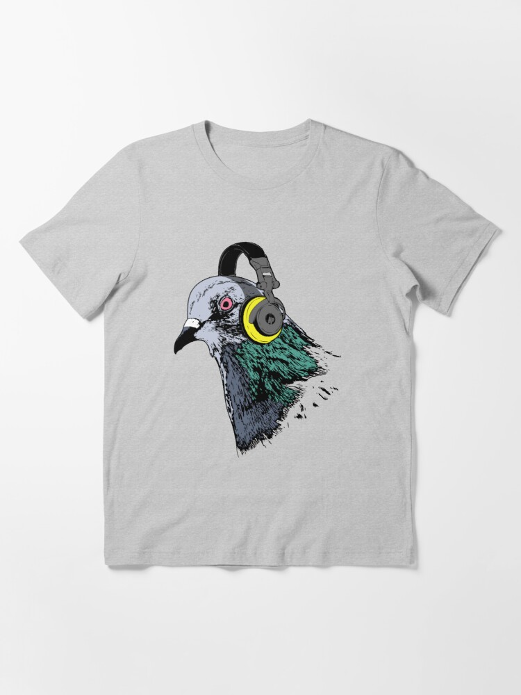 Alternate view of Techno Pigeon v2 Essential T-Shirt