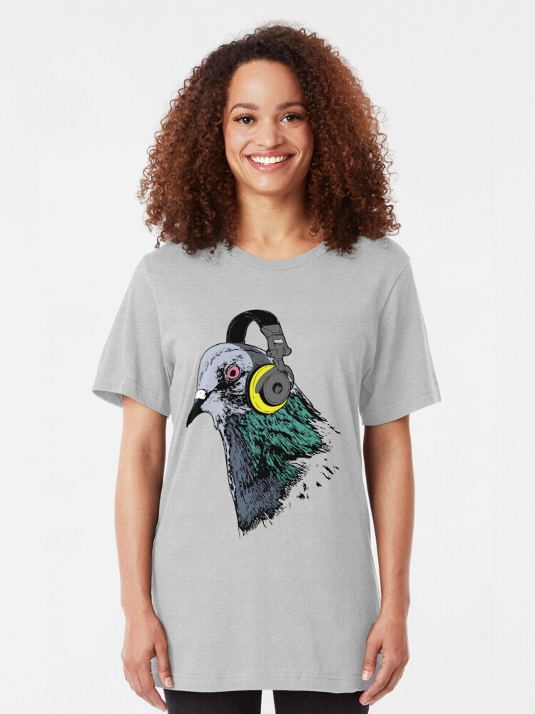 Alternate view of Techno Pigeon v2 Slim Fit T-Shirt