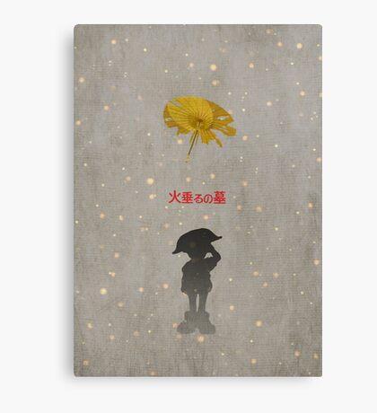 Ghibli Minimalist 'Grave of the Fireflies' Canvas Print