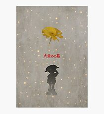 Ghibli Minimalist 'Grave of the Fireflies' Photographic Print