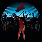 Les Miserables - The Barricade Sticker by Sheridan Johns