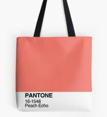 Pantone Peach Echo Tote Bag