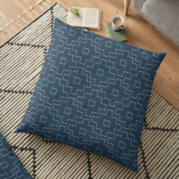 Sashiko needlework 1 Floor Pillow