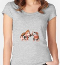 Donkey kong and Diddy Kong Women's Fitted Scoop T-Shirt