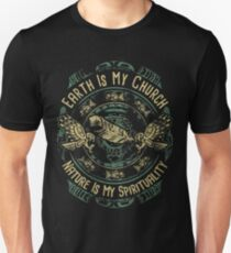 NATIVE AMERICAN EARTH IS MY CHURCH NATURE IS MY SPIRITUALITY T-Shirt