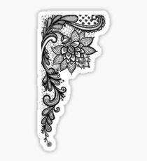 Black Lace Sticker
