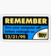 Best Buy Y2K Reminder Sticker