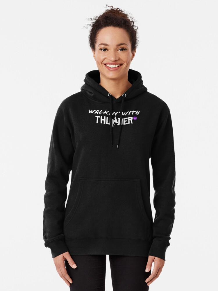 Alternate view of Chicago Dime Walkin' With Thunder Pullover Hoodie