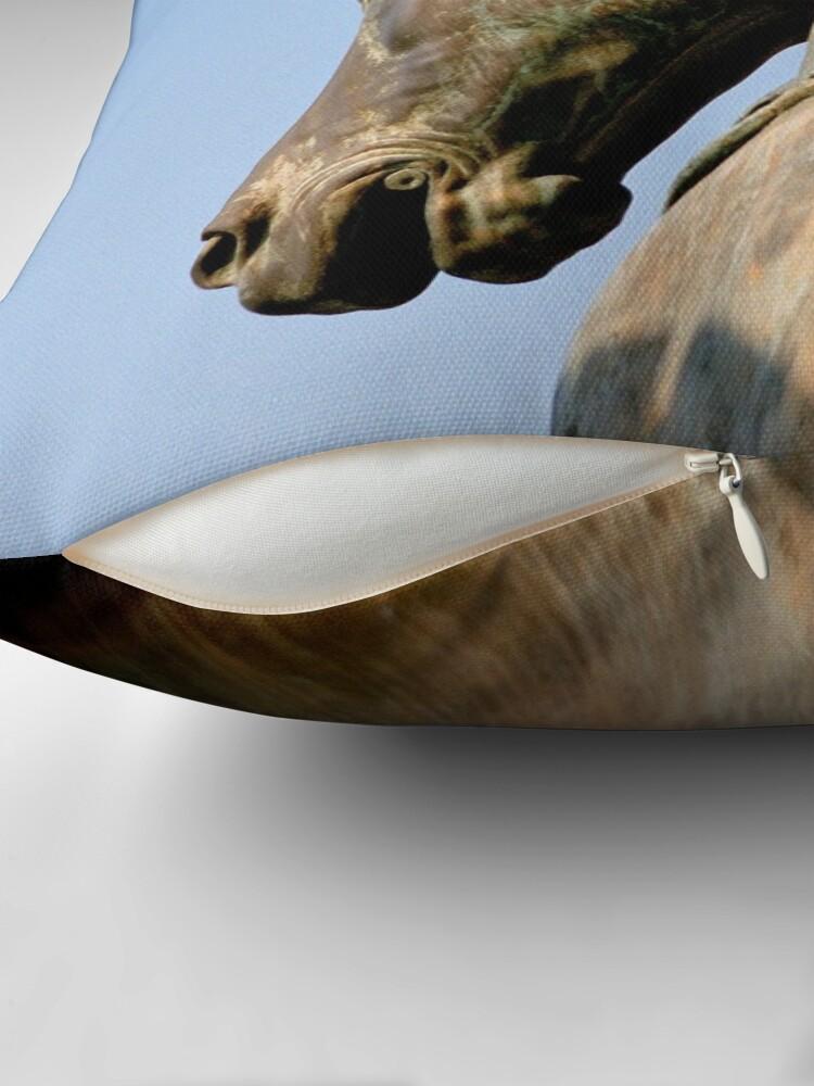 Alternate view of Bronze Horse, San Marco Throw Pillow