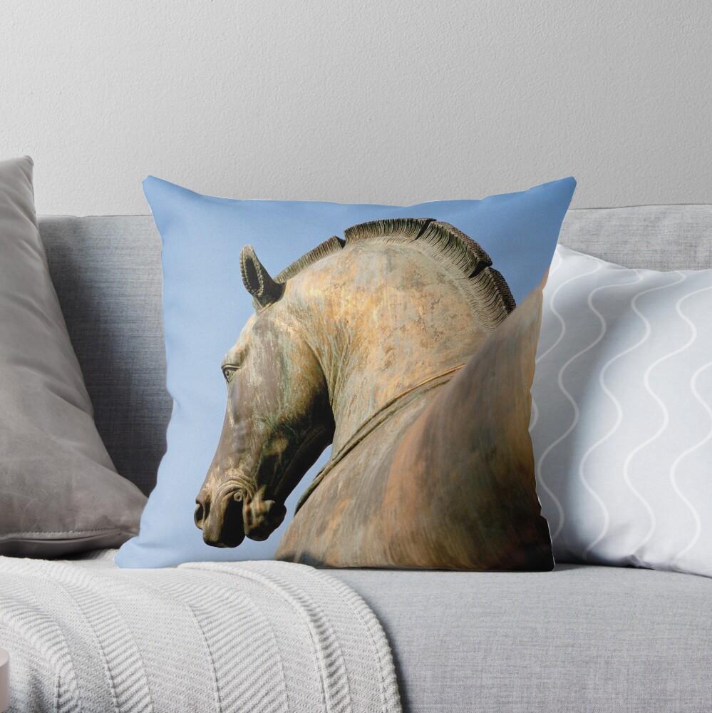 Bronze Horse, San Marco Throw Pillow