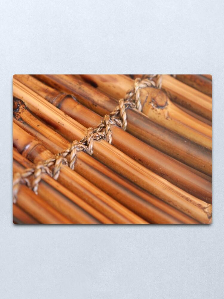 Alternate view of Bamboo Metal Print