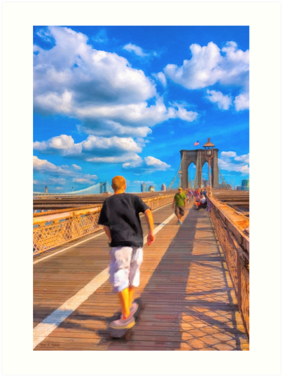 Lazy Days on the Brooklyn Bridge by Mark Tisdale