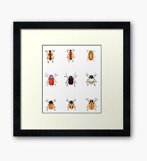 Bugs with Spots (1825) Framed Print