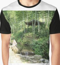 Chinese Tea House Graphic T-Shirt
