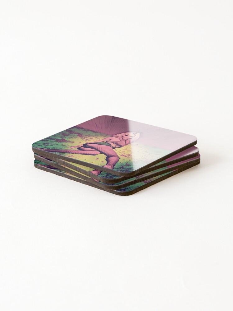 Alternate view of Pop Art Woman Coasters (Set of 4)