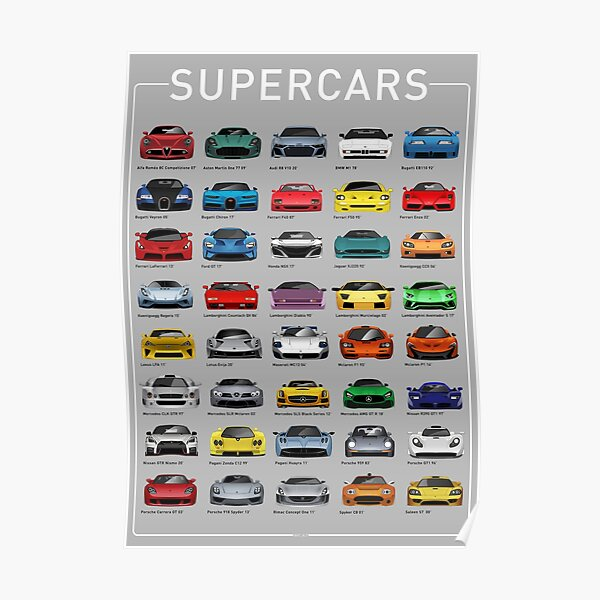 Super Cars Poster