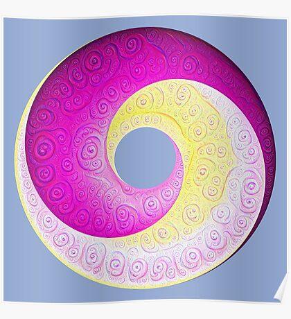 #DeepDream Color Circles Visual Areas 5x5K v1448901772 Poster
