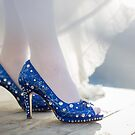 Blue wedding shoes Pavlina by norakaren