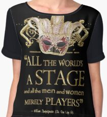 Shakespeare As You Like It Stage Quote Women's Chiffon Top