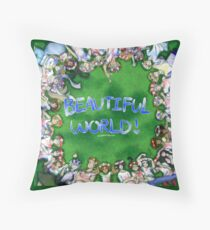[Hetalia] Beautiful World! #10YrsOfHetalia Throw Pillow