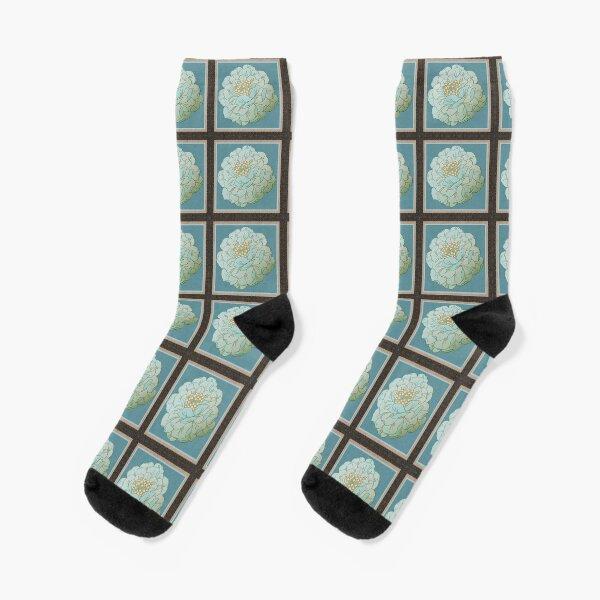 Copy of Evelyn Flowers framed 2 Socks