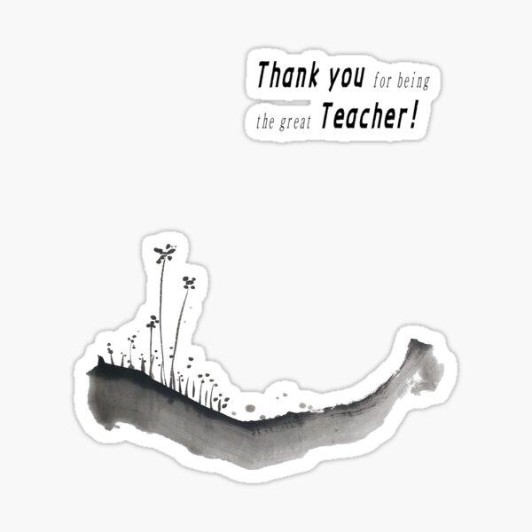Teacher   Thank you   US Teacher Appreciation Week   Happy   스승의 날   Calligraphy Sticker