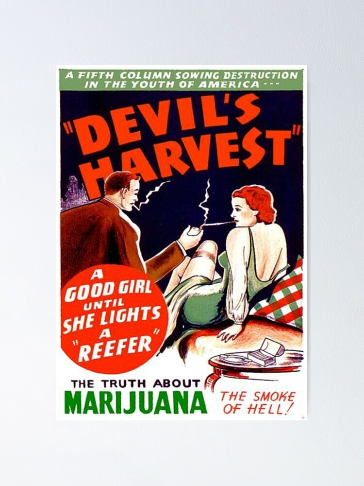 The Devils Weed Reefer Poster Art Print Framed Poster Wall Decor