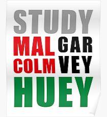 Study Malcolm Garvey Huey  Poster