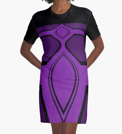 Think Purple Think Black Graphic T-Shirt Dress