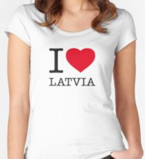 I ♥ LATVIA Women's Fitted Scoop T-Shirt