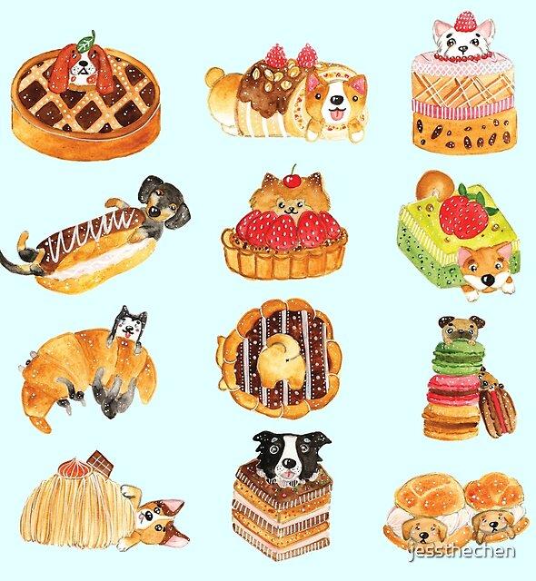 Puppy Pastries by jessthechen