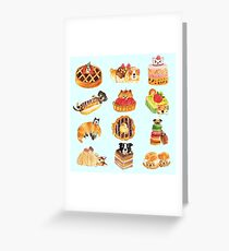 Puppy Pastries Greeting Card