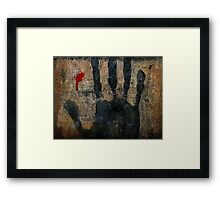 My life is slipping through my fingers. Framed Print