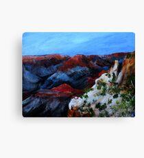 Nevada Desert Landscape Acrylics On Canvas Board Canvas Print