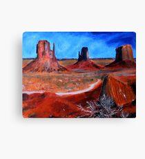 Utah Desert Landscape Acrylics On Canvas Board Canvas Print