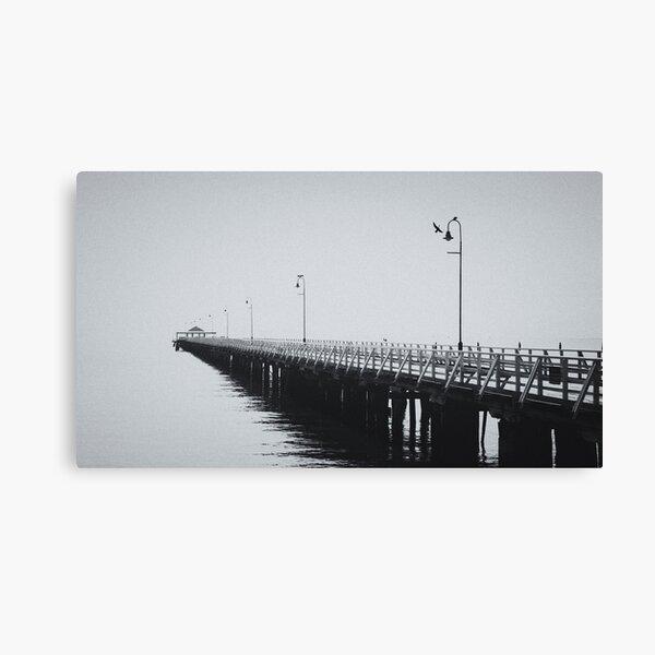Comorants on the Pier Canvas Print
