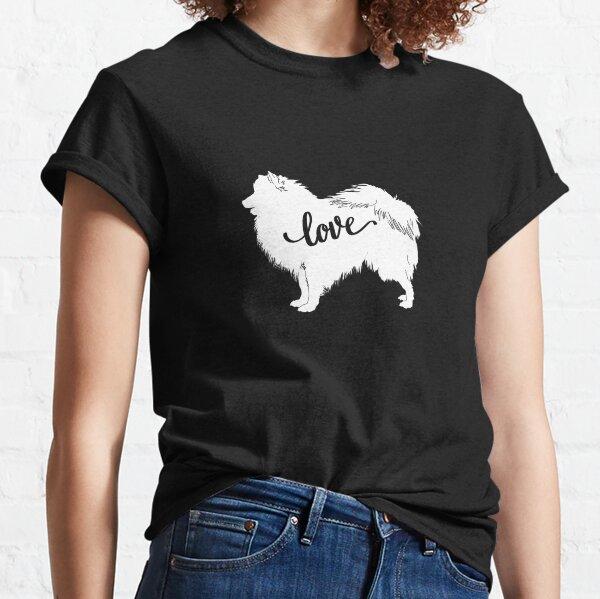 I Love My Japanese Spitz Dog Silhouette Classic T-Shirt