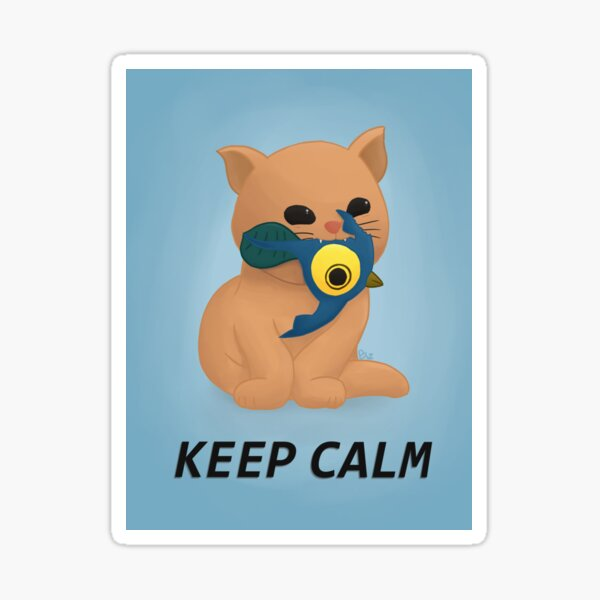 Copie de keep calm kitty Sticker