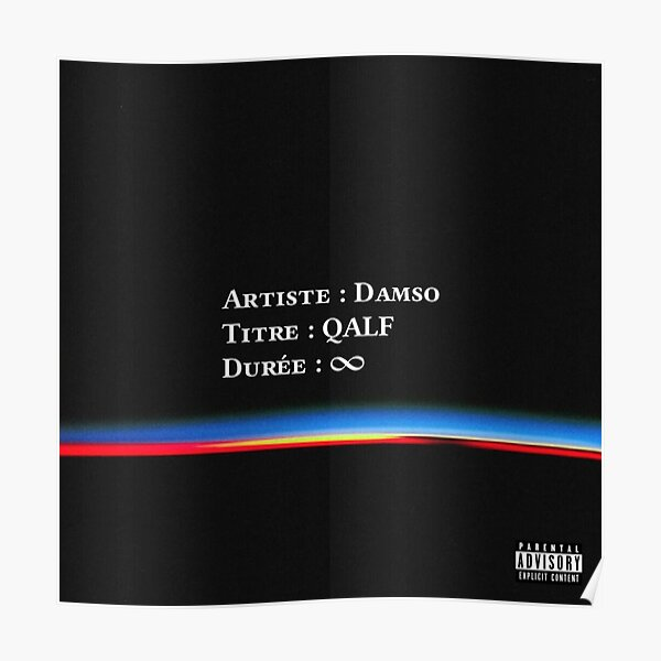 Damso - qalf infinity cover Poster