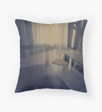 Love heart on table - Hasselblad 500cm hand made darkroom color print Throw Pillow