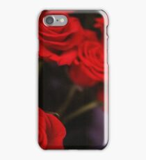 Analog photo of bunch bouquet of red roses iPhone Case/Skin