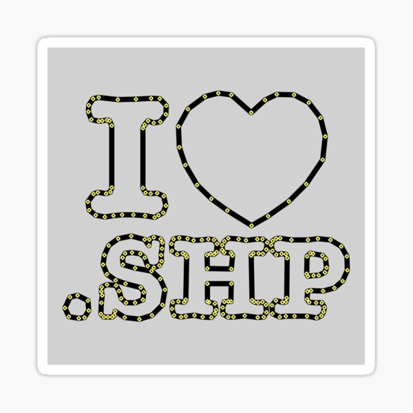 I <3 .SHP with vertices NFT Sticker