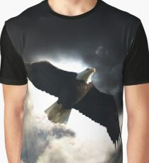Soaring Eagle in Stormy Skies Graphic T-Shirt
