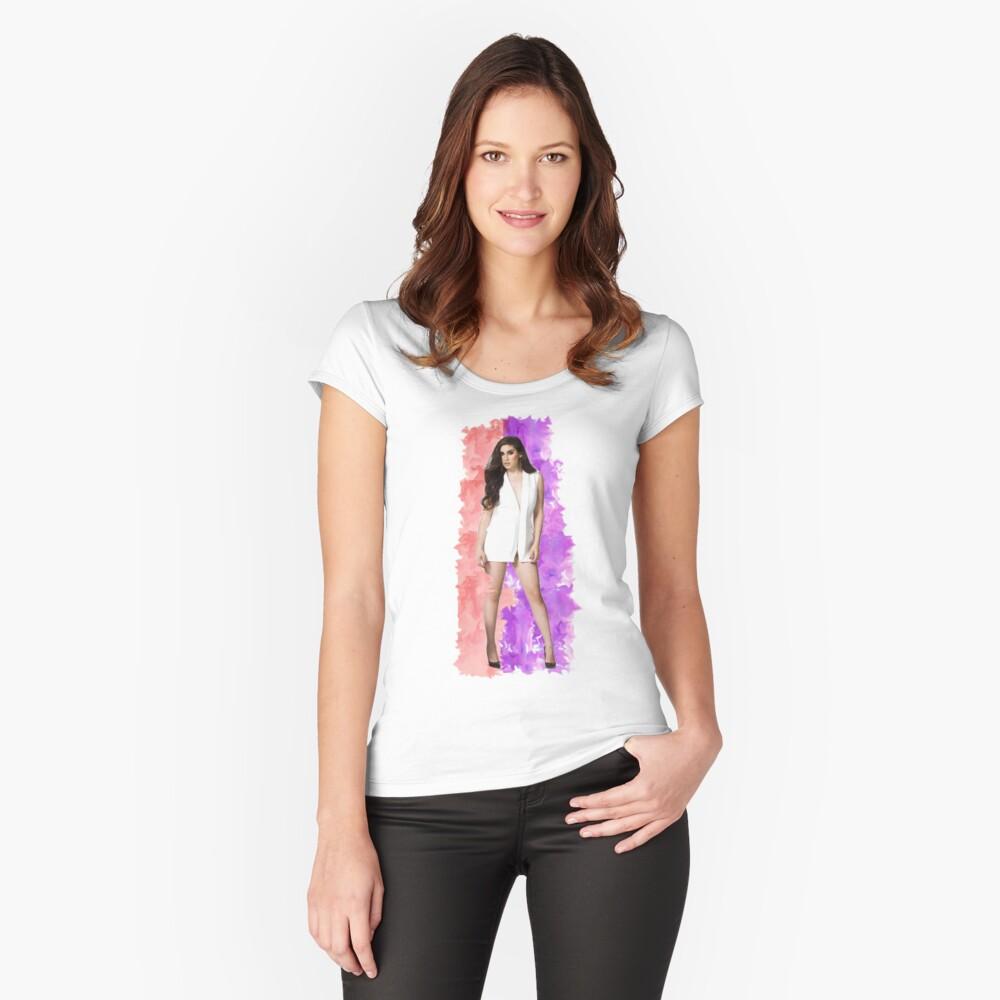 Lauren Jauregui Splash! Camiseta entallada de cuello ancho