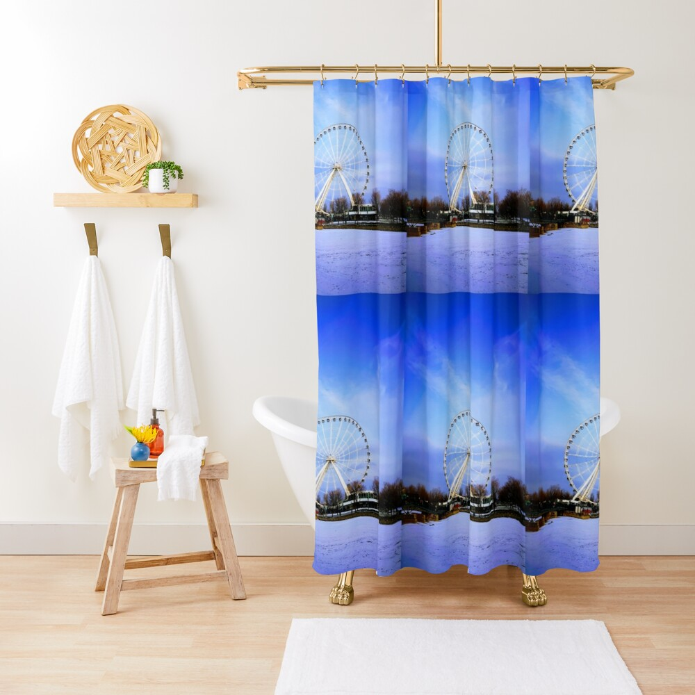 Ferris Wheels By Yannis Lobaina Shower Curtain