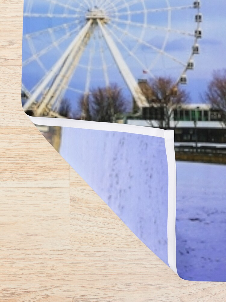 Alternate view of Ferris Wheels By Yannis Lobaina Shower Curtain
