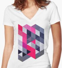 glww xryma Women's Fitted V-Neck T-Shirt