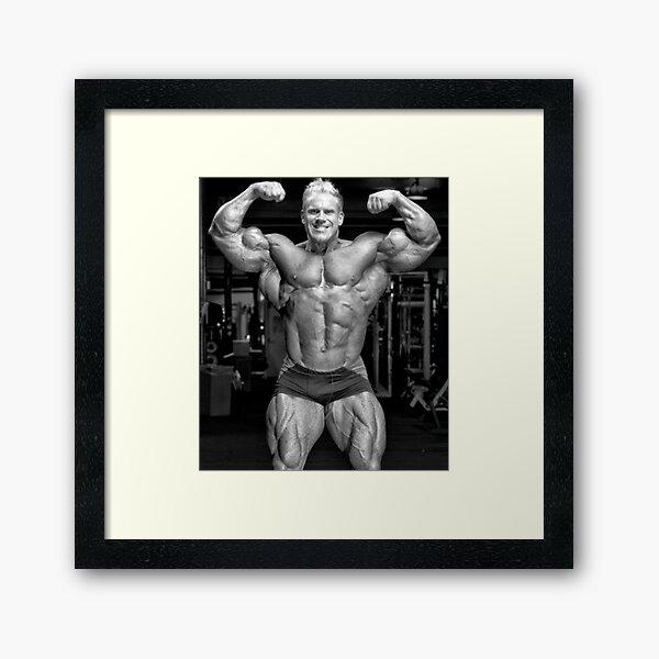 Jay Cutler front double biceps flexing Framed Art Print