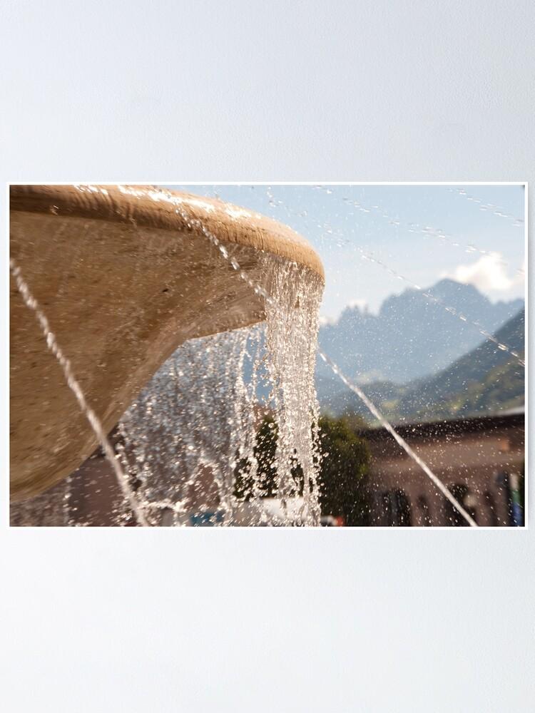 Alternate view of Fountain, Train Station Plaza,  Bolzano/Bozen Poster